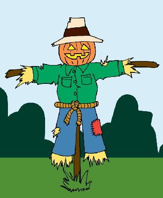 Cute scarecrow clipart 3.