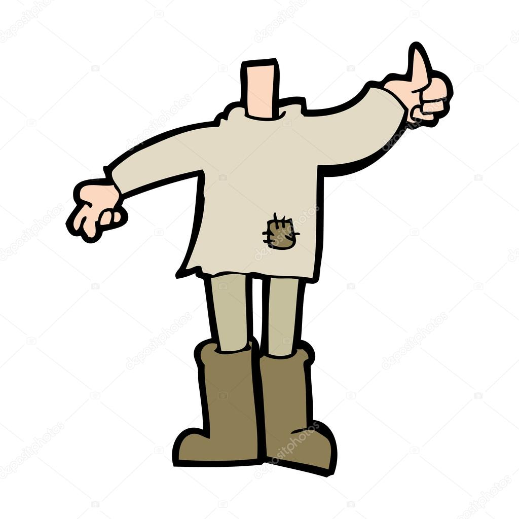 Showing post & media for Headless person cartoon.