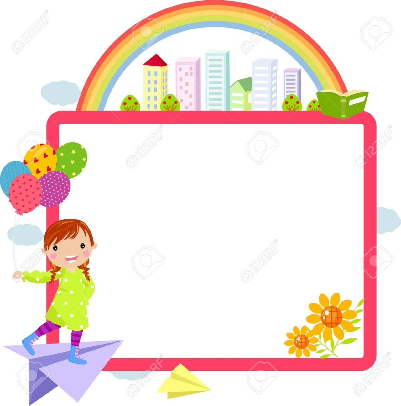cute school clipart horizontal border #20
