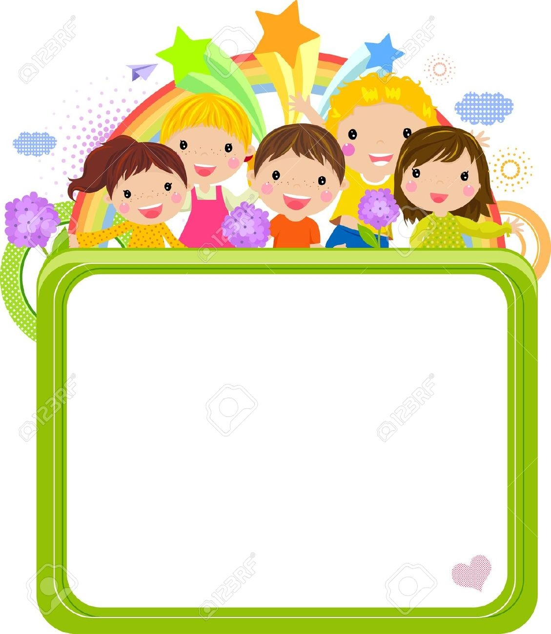 Cartoon Character Border Design : Cute school clipart horizontal border clipground