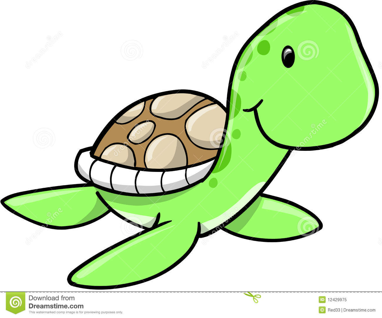 Sea Turtle Cute Clipart.