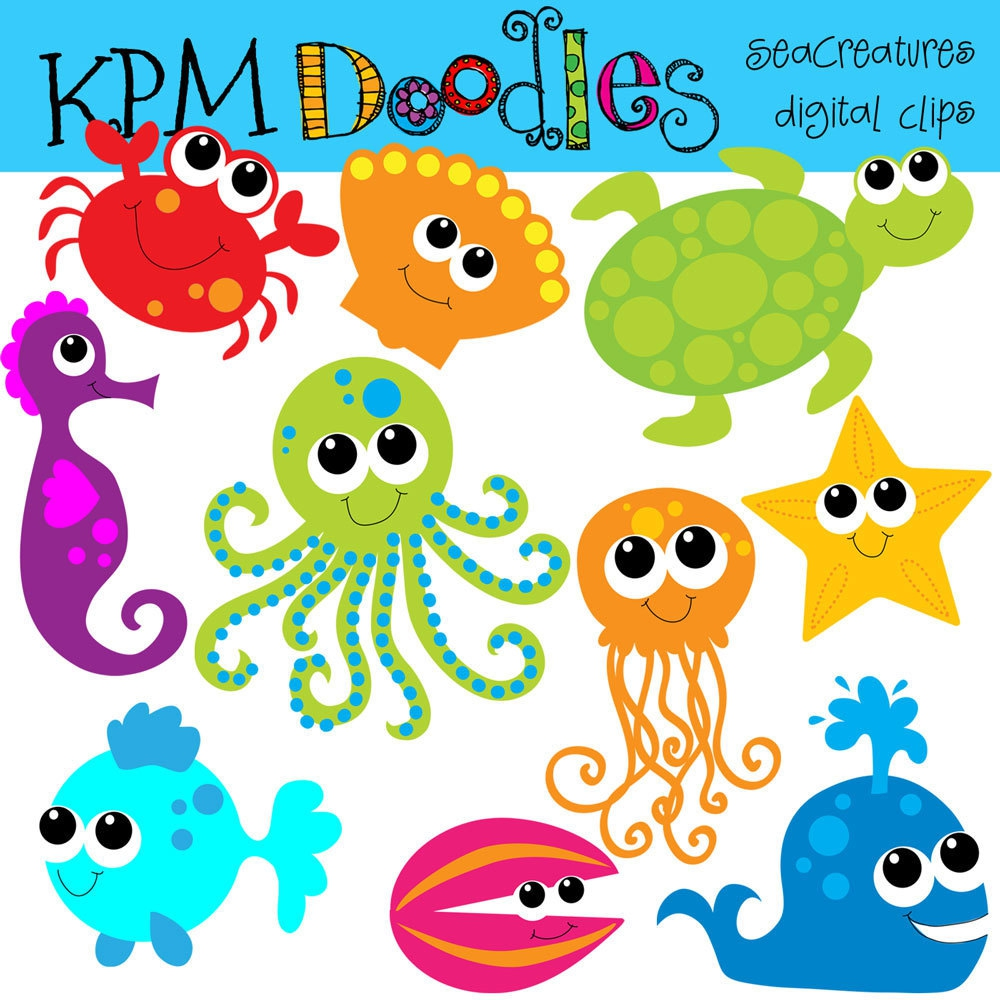 Cute Sea Animal Clipart#2112011.