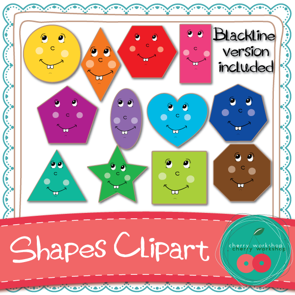 Shapes Clip Art {Commercial Use}.