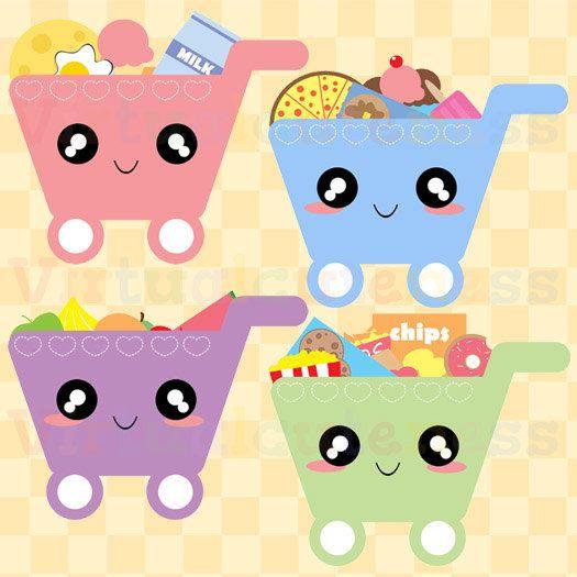 Cute Shopping Cart ClipArt.