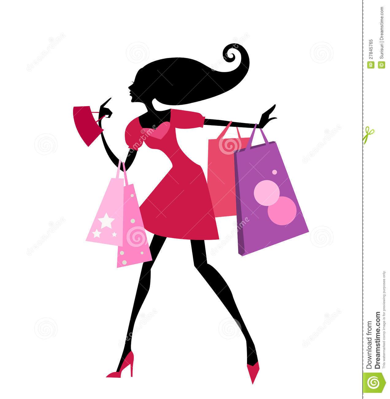 Cute Shopping Bag Clipart.