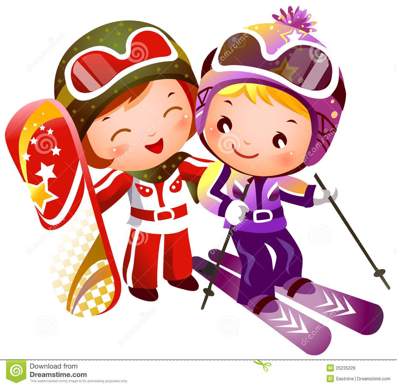 Skiing Stock Illustrations.