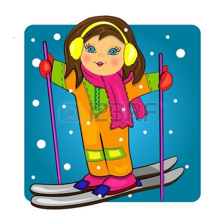 713 Skiing Girl Stock Illustrations, Cliparts And Royalty Free.