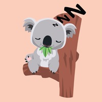 Showing post & media for Cartoon koala sleeping.