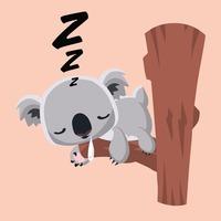 Cute sleeping koala clipart.