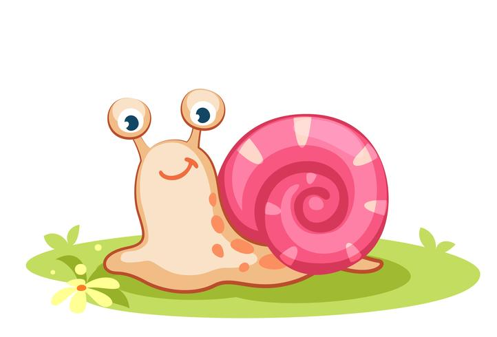 Cute cartoon snail.