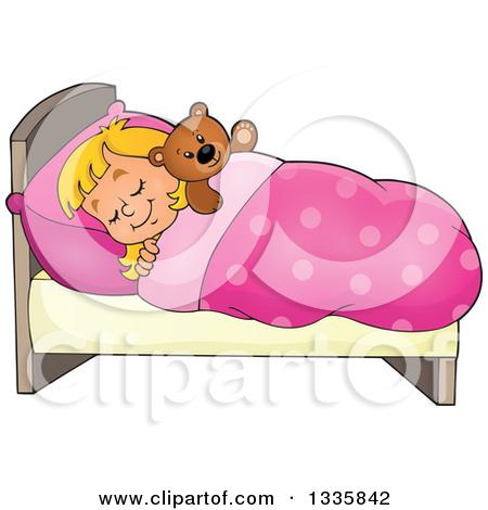 Cute small bed cartoon clipart.