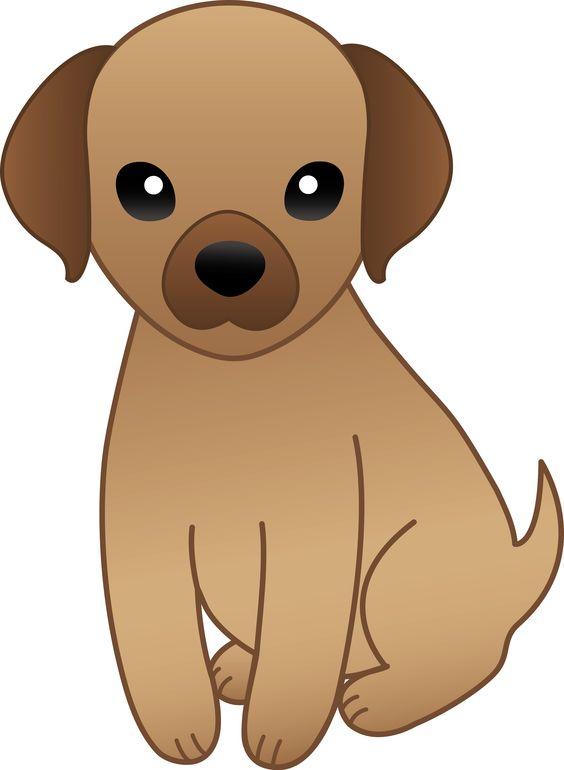 1 big 1 small dog cartoon clipart.