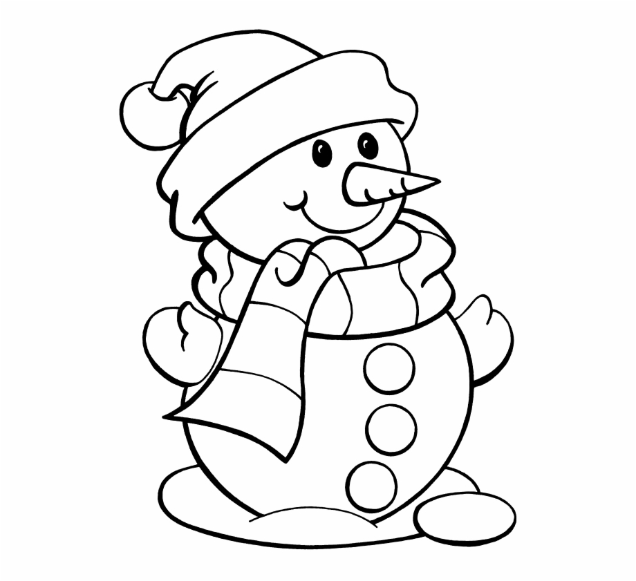 Cute Snowman Coloring Pages 2 By Christy Cute.