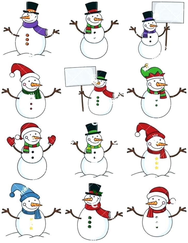 free snowman clipart.