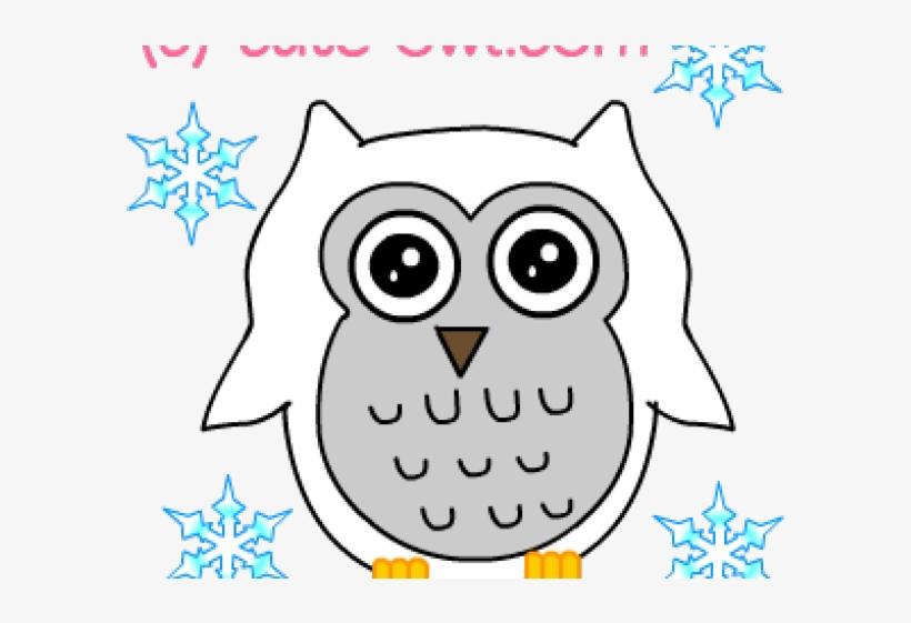 Snowy Owl Clipart Cute Little Cartoon.