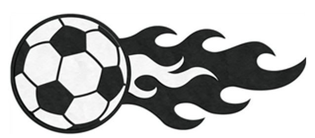Cute soccer ball clipart.