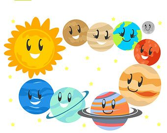 Cute planets pics about space clipart image.