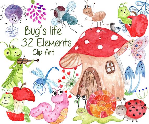 Cute Bugs Clipart: