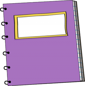 Cute Spiral Notebooks Clipart Design.