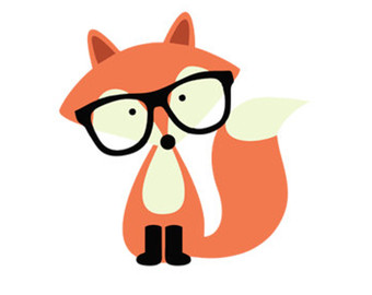 hipster fox svg dxf file instant download silhouette cameo cricut.