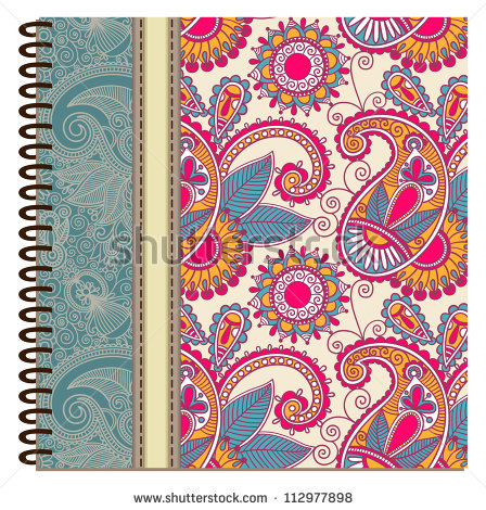 Notebook Cover Design Stock Images, Royalty.