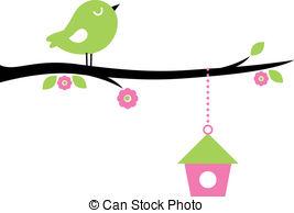 Vector Clip Art of Spring bird.