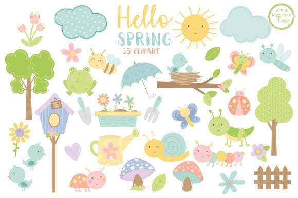 Hello Spring Clipart.
