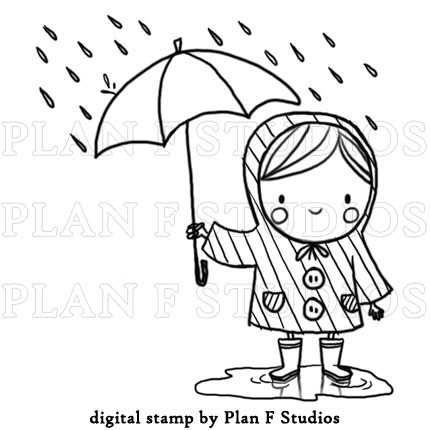 Spring Showers Clipart Black And White.