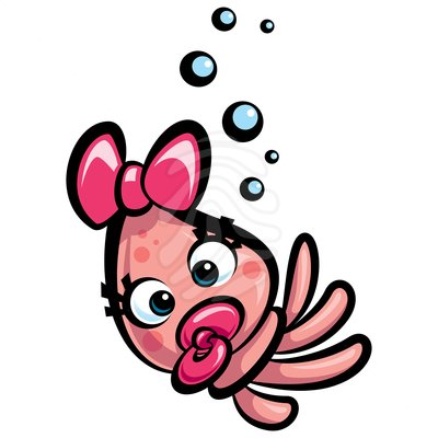 Cute squid clipart.