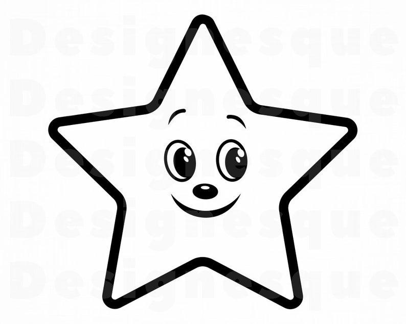 Cute Star SVG, Cute Star Clipart, Cute Star Files for Cricut, Cute Star Cut  Files For Silhouette, Cute Star Dxf, Cute Star Png, Eps, Vector.
