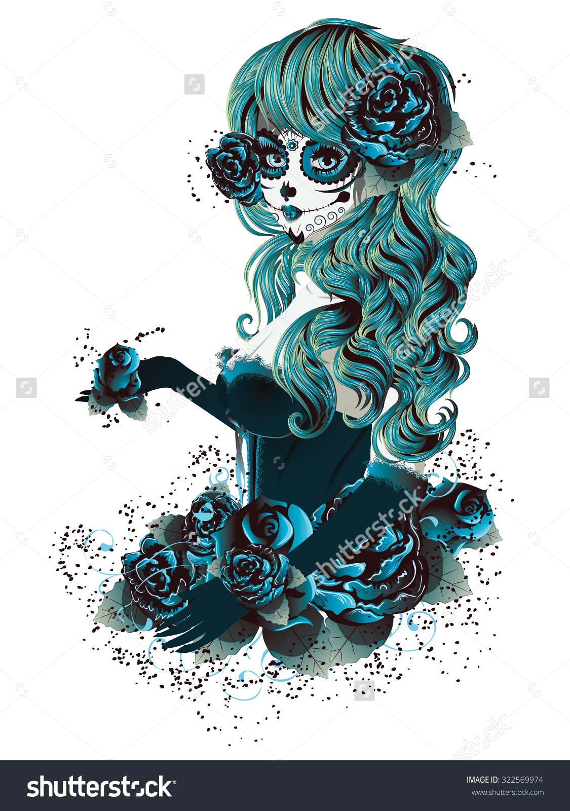 Cute Sugar Skull Face Clipart Clipground