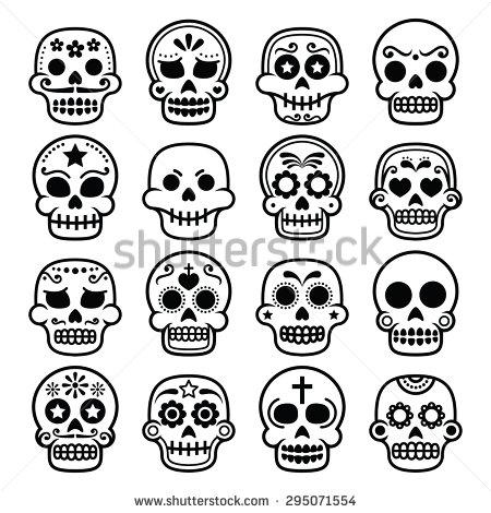 Sugar Skull Stock Images, Royalty.
