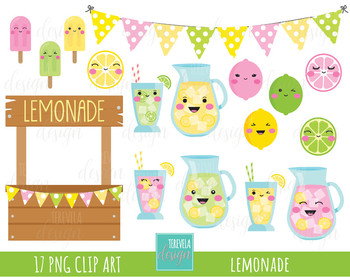 50% SALE LEMONADE clipart, summer clipart, kawaii lemon, kawaii, cute.