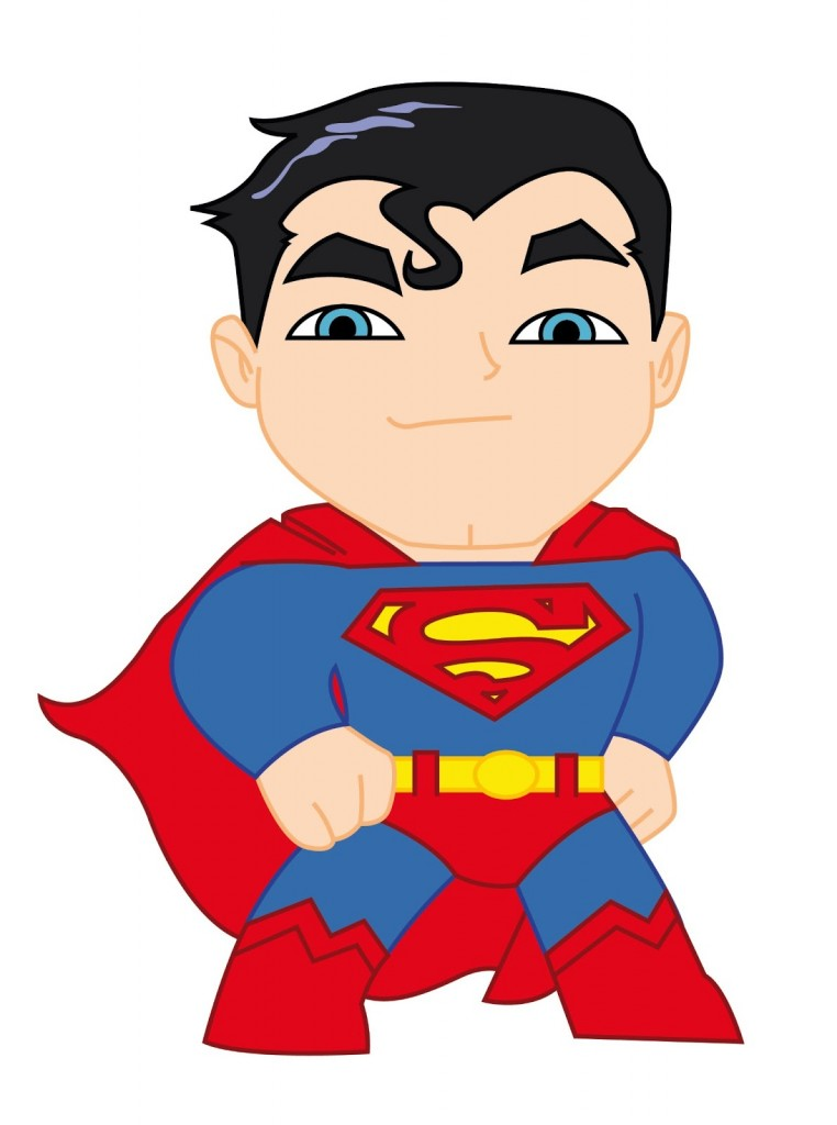 cute super man clipart #1