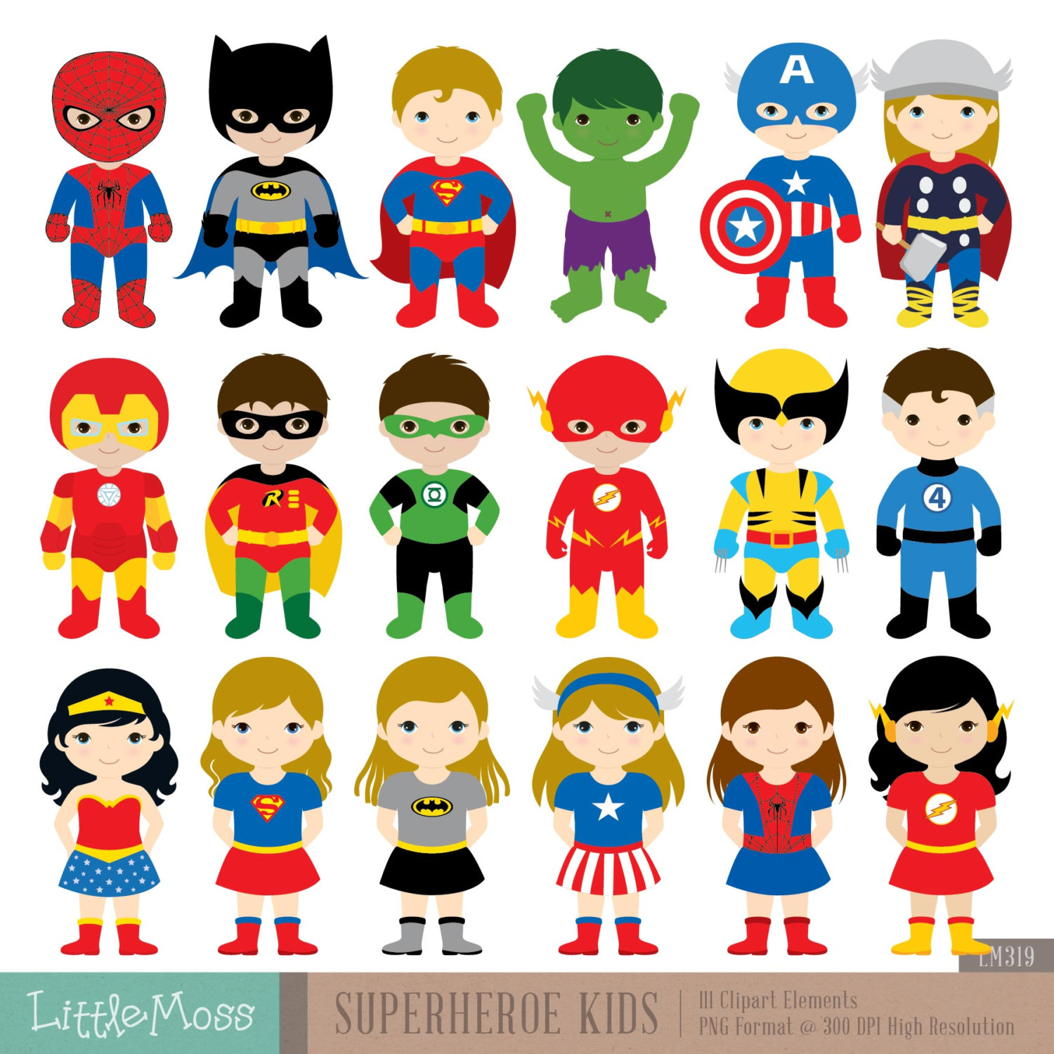 Superhero Art For Little Boys: Cute Super Man Clipart 20 Free Cliparts