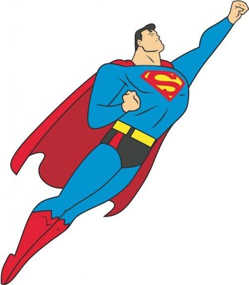 cute super man clipart #19