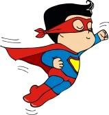 Cute Superman Cartoon Clipart.