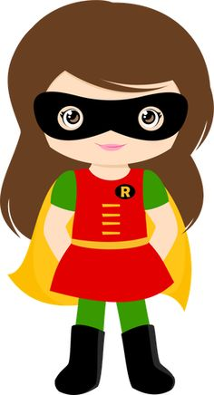 Cute Super Girl Clipart.