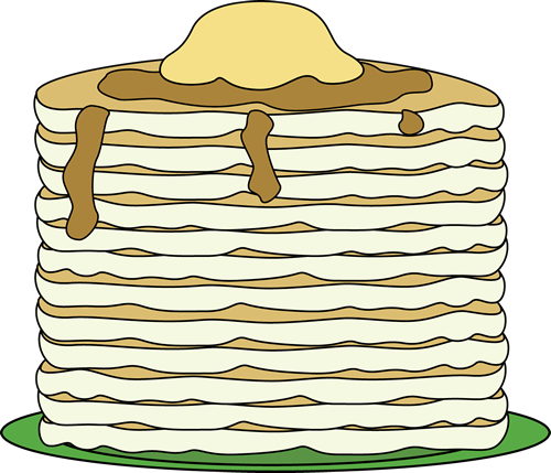 Big Stack of Pancakes Clip Art.