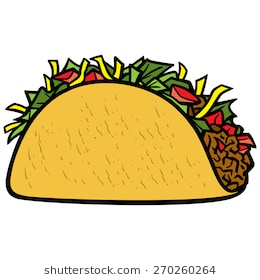 Cute taco clipart 1 » Clipart Station.
