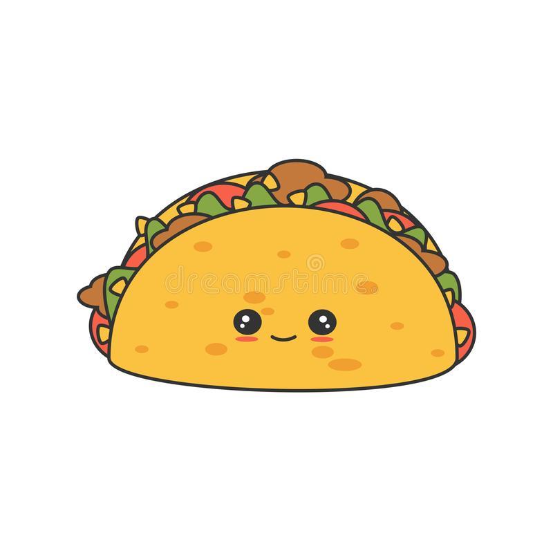 Cute Tacos Stock Illustrations.