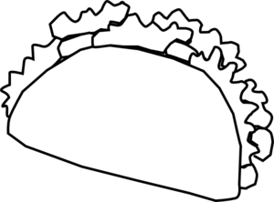 Cute Taco Clipart Black And White.
