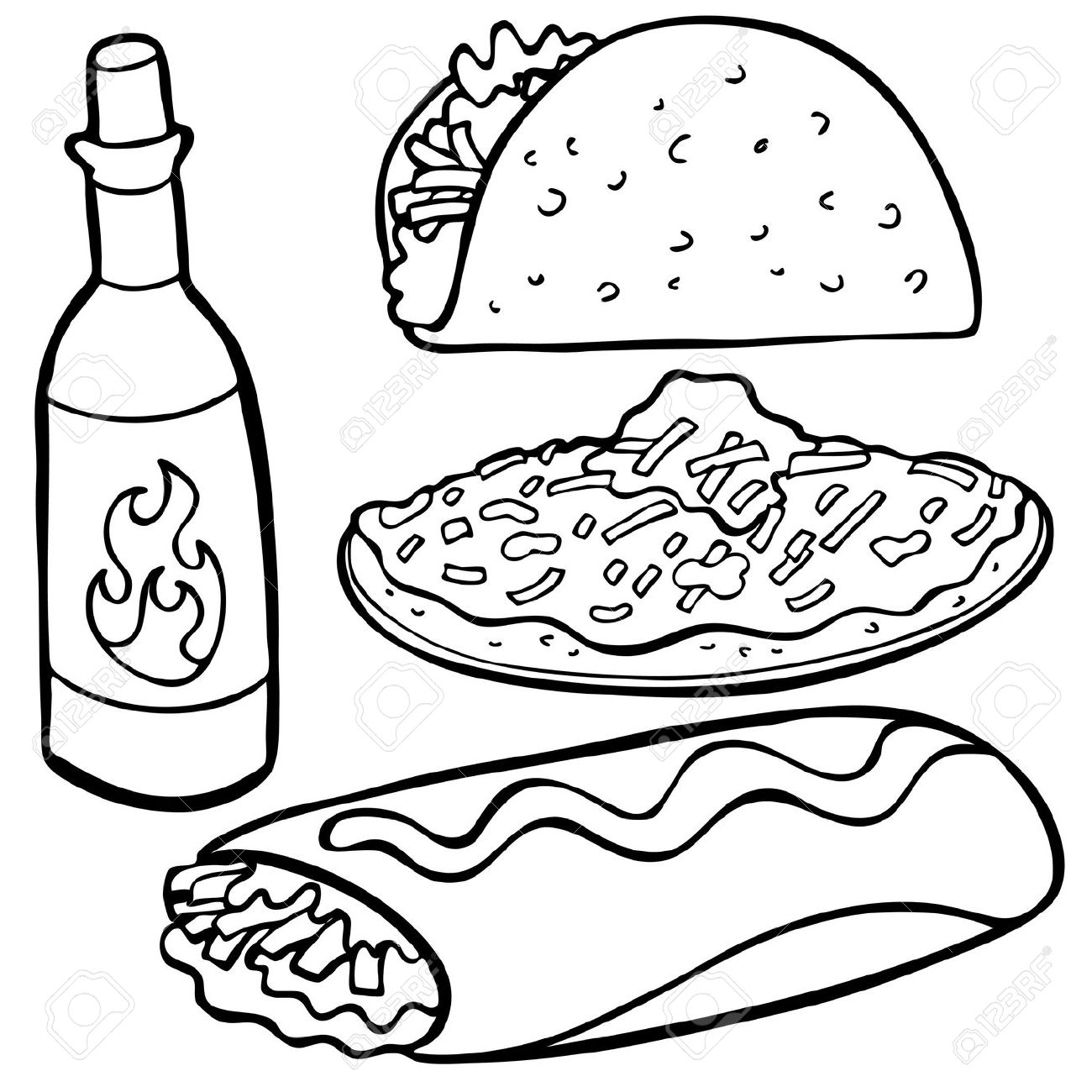 Vector and Tacos Clipart Black And White 9617 Favorite ClipartFan.com.