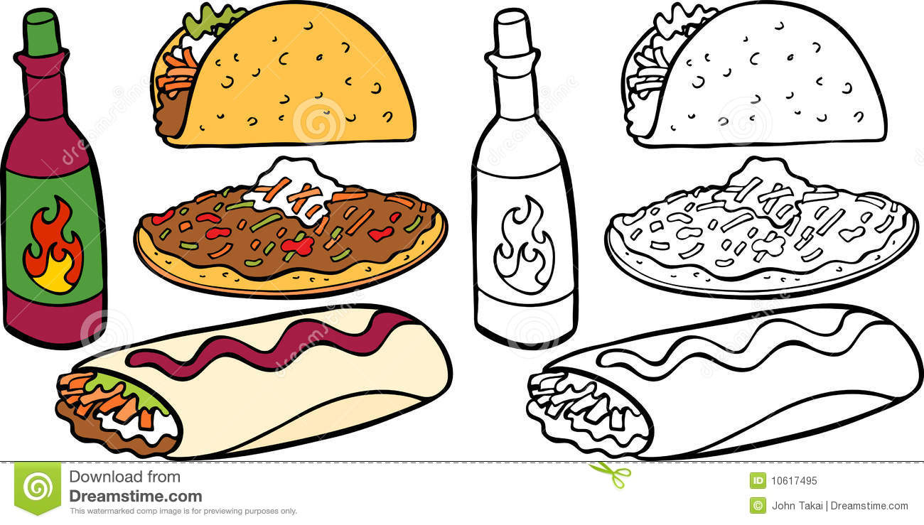 Mexican Food Clipart Black And White.