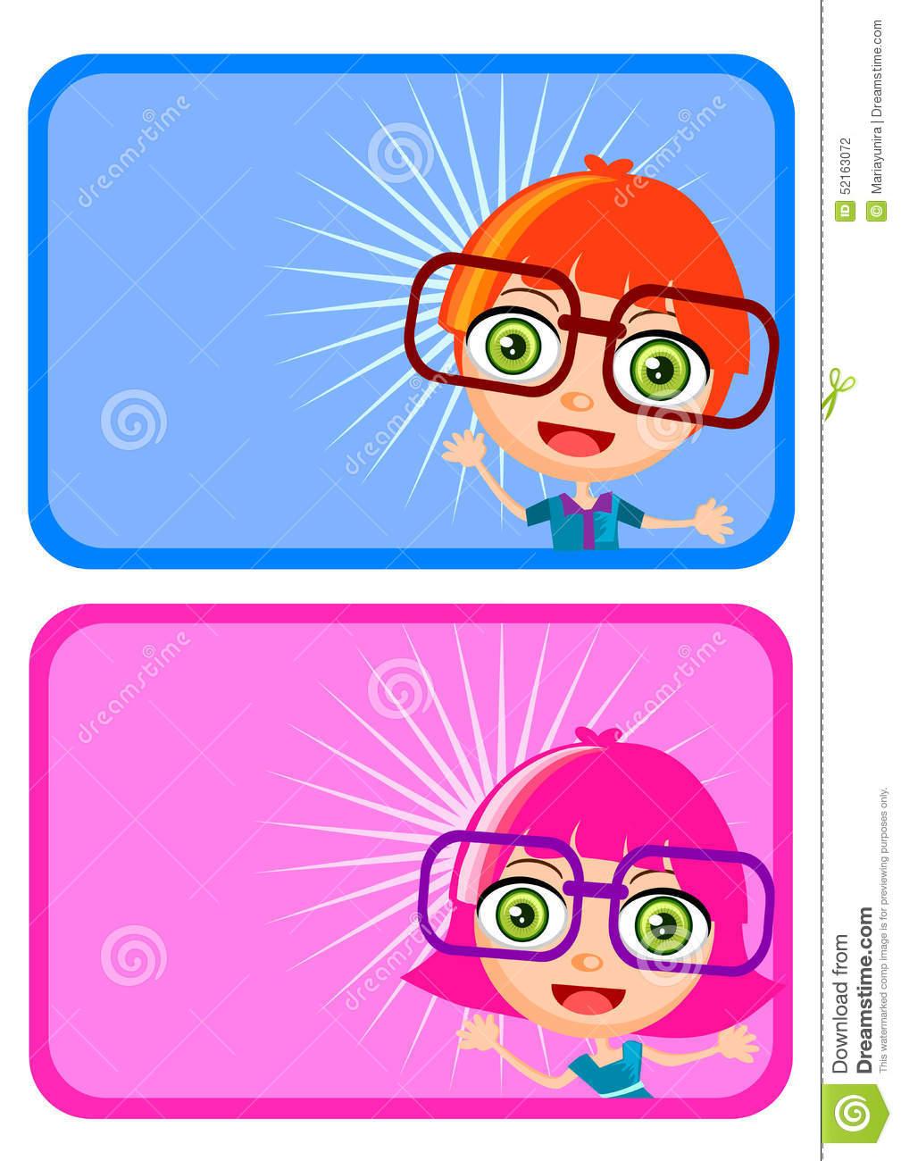Name Tag Cute Clipart.