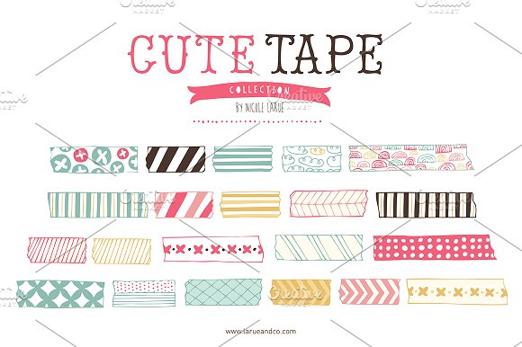 Cute Tape (Clipart) ~ Illustrations on Creative Market.