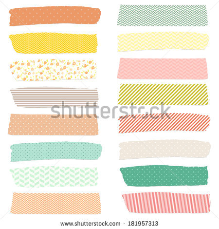 Cute Tape Strips Stock Images, Royalty.