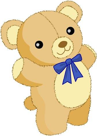 Blue teddy bear clipart 2.