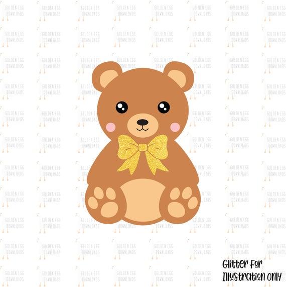 Teddy SVG, Teddy Bear SVG, Bear SVG, Cute Teddy Bear Clipart, Teddy Bear  Clipart, Cut File, Instant Download, Teddy Silhouette.