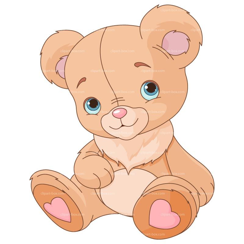 Cute Pink Teddy Bear Clip Art.